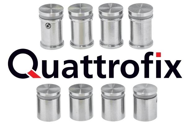 Quattrofix RVS afstandhouders