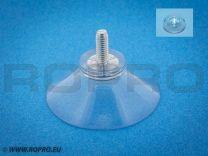 Zuignap 37,5mm met schroefdraad M4x10 + transparant moertje