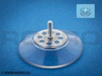 Zuignap 51mm met schroefdraad M4x14 + transparant moertje