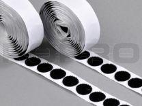 Klittenbandrondjes zelfklevend H+L Ø 16 mm, 100 sets zwart