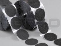 Klittenbandrondjes zelfklevend H+L Ø 45 mm, 100 sets zwart