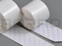 Klittenbandrondjes zelfklevend H+L Ø 10 mm, 100 sets wit