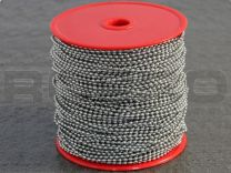 Kogelketting, 2,4 mm x 100 m, RVS