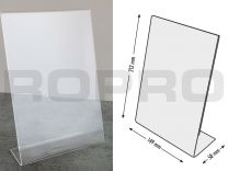 L-shaped Sign holders, vertical format, polysterene clear A5