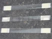 Wiebelaar 150 x 15 mm, recht, beide zijde Foam tape