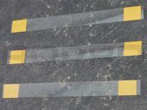Wiebelaar 150 x 15 mm, recht, beide zijde verwijderbare tape