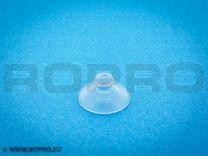 Zuignap Ø 16 mm met knop 8 mm hoog, Hals Ø 5 mm